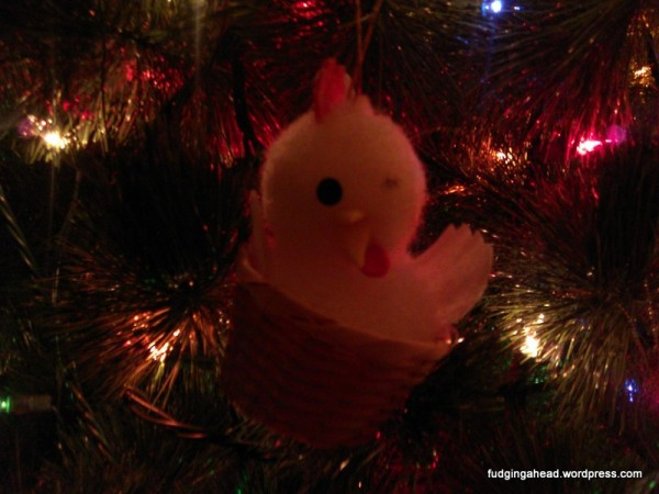 My mom hated this one-eyed ornament, but we would hide it on the tree anyway. It's a tradition, now.