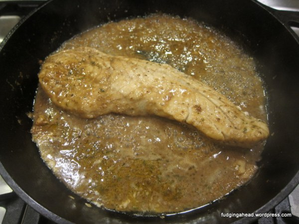 I poured in the marinade and let it cook to form a bit of a sauce.
